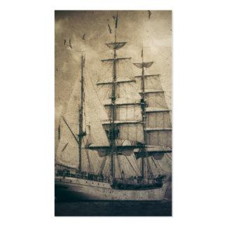 marinero retro rústico de las olas oceánicas del b plantillas de tarjeta de negocio
