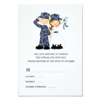 Marinero y novia que casan las tarjetas de RSVP Invitación 8,9 X 12,7 Cm