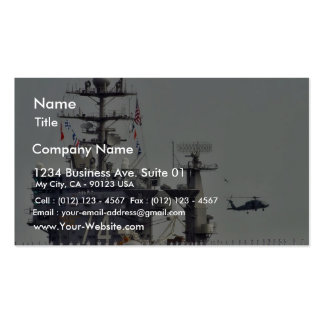 Marineros de la marina de guerra de las naves de l tarjetas de visita