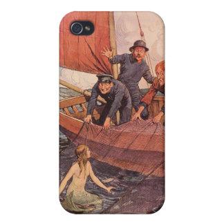 Marineros del arte del vintage con el caso del iPh iPhone 4 Fundas
