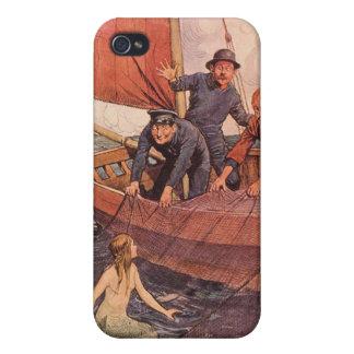 Marineros del arte del vintage con el caso del iPh iPhone 4/4S Funda