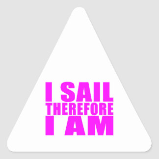 Marineros del chica: Me navego por lo tanto estoy Pegatina Triangular