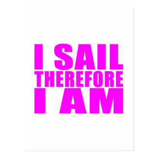 Marineros del chica: Me navego por lo tanto estoy Postales