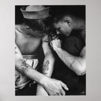Marineros gay del trozo del interés del vintage co póster