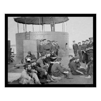 Marineros que se relajan en el USS Monitor 1862 Impresiones