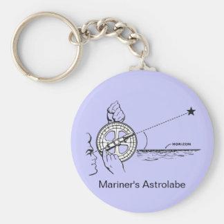 Mariner's Astrolabe Basic Round Button Keychain