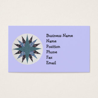 Mariner's Compass Quilt Circle Business Card