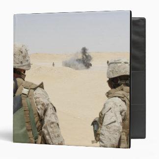 Marines and sailors 3 ring binder
