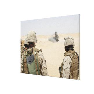 Marines and sailors canvas print