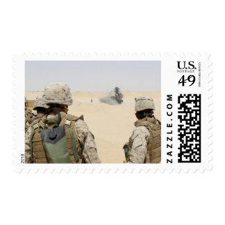 Marines and sailors postage