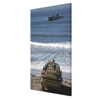 Marines anticipate the arrival canvas print