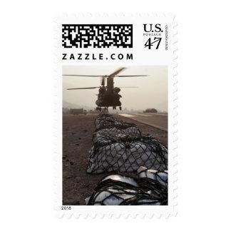 Marines attach sling loads postage stamp