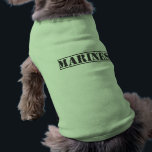 """Marines dog t-shirt<br><div class=""""desc"""">Man&#39;s best friend is now representing our country&#39;s military.</div>"""