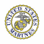 Marines Emblem Embroidered Shirt