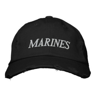 MARINES EMBROIDERED BASEBALL HAT