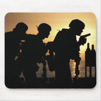 Marines fire 9mm handguns mouse pad