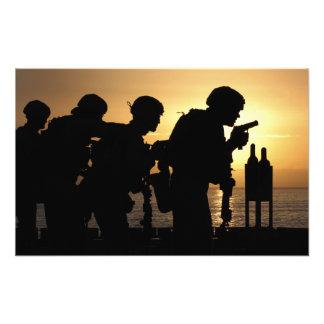 Marines fire 9mm handguns photo print