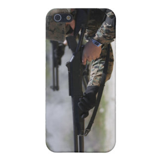 Marines firing shotguns case for iPhone SE/5/5s