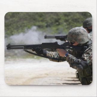 Marines firing shotguns mouse pad