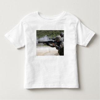 Marines firing shotguns t shirt