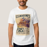 Marines - First to Fight in France for Freedom T Shirts