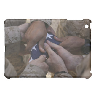 Marines fold an American flag Cover For The iPad Mini