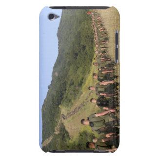 Marines hike their way to a memorial site barely there iPod case