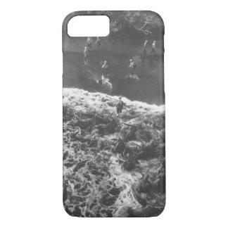 Marines hit three feet of rough water _War Image iPhone 8/7 Case
