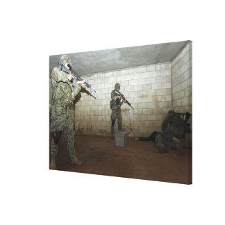 Marines hold an SASO instructor down Canvas Print