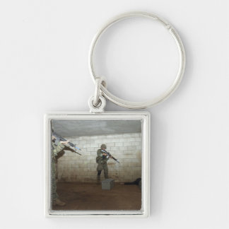 Marines hold an SASO instructor down Silver-Colored Square Keychain