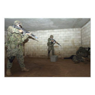 Marines hold an SASO instructor down Photo Print