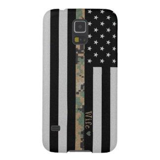 Marines/Navy Martar Camo Wife Line Flag Galaxy S5 Case For Galaxy S5