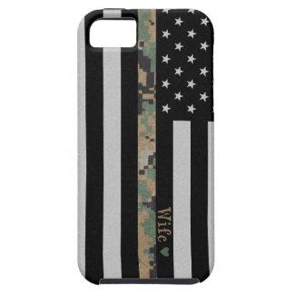 Marines/Navy Martar Camo Wife Line Flag iPhone 5 iPhone SE/5/5s Case