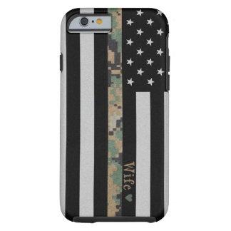 Marines/Navy Martar Camo Wife Line Flag iPhone 6 Tough iPhone 6 Case