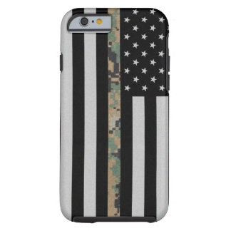 Marines/Navy Thin Marpat Camo Line Flag iPhone 6 Tough iPhone 6 Case