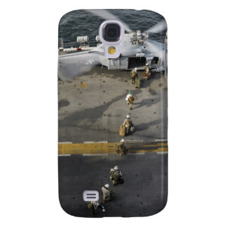 Marines prepare to board an MH-60S Samsung S4 Case