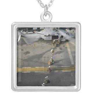 Marines prepare to board an MH-60S Square Pendant Necklace