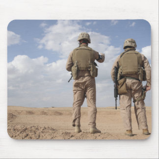 Marines scan the horizon for insurgent activity mouse pad