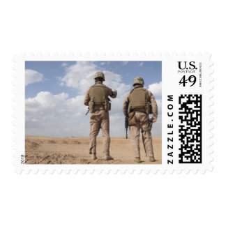 Marines scan the horizon for insurgent activity postage stamps