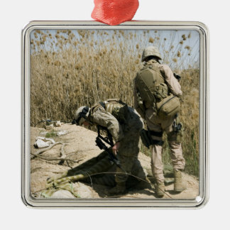 Marines search for weapons caches metal ornament