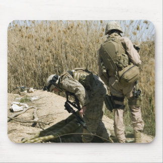 Marines search for weapons caches mouse pad