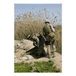 Marines search for weapons caches posters