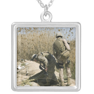 Marines search for weapons caches silver plated necklace