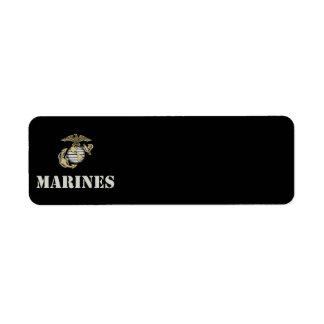 Marines [stencil] label