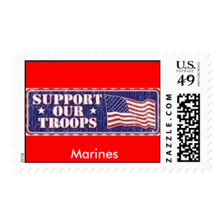 Marines 'Support Our Troops' Postage