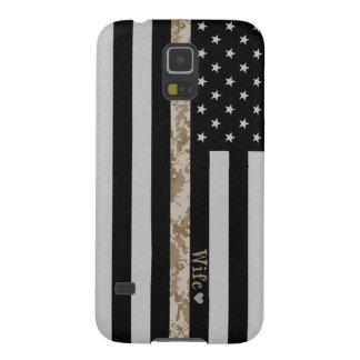 Marines Thin Desert Camo Wife Line Flag Galaxy S5 Case For Galaxy S5