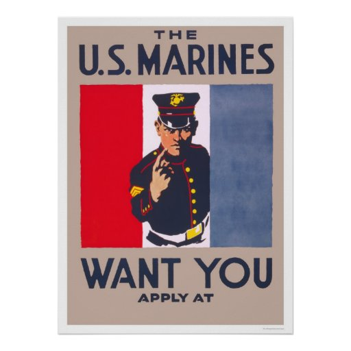 Marines want you poster