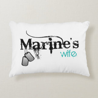 Marine's Wife Decorative Pillow