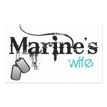 Marine's Wife Rectangular Sticker