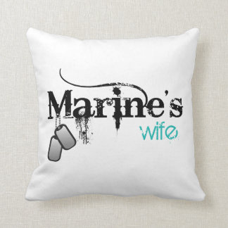 Marine's Wife Throw Pillow